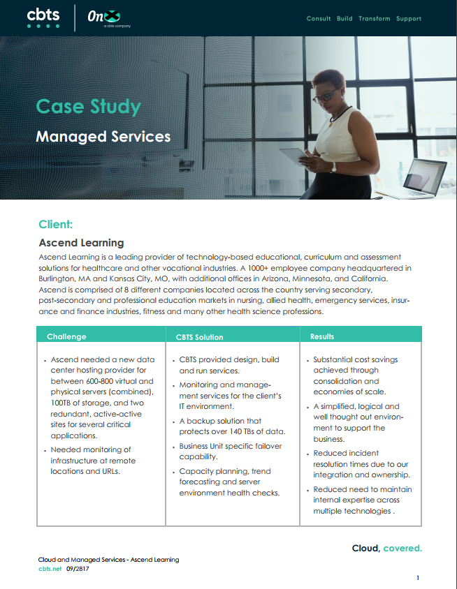 Managed Services - Ascend Learning