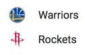 Warriors-Rockets